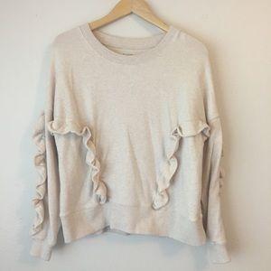 Miles by Madewell Pullover Ruffle Sweatshirt